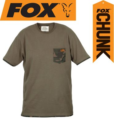 Fox Chunk Khaki Camo Pocket T-shirt