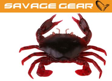 Savage Gear LB 3D Manic Crab Red & Black Creature Bait Gummifisch