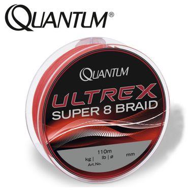 Quantum Ultrex Super 8 Braid 110m geflochtene Schnur rot