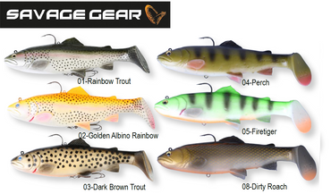 Savage Gear 3D Trout Rattle Shad Gummifische