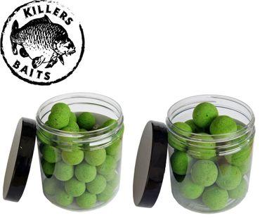 Carp Killers Pop Up Boilies Green Sardina 100g (16mm / 20mm)