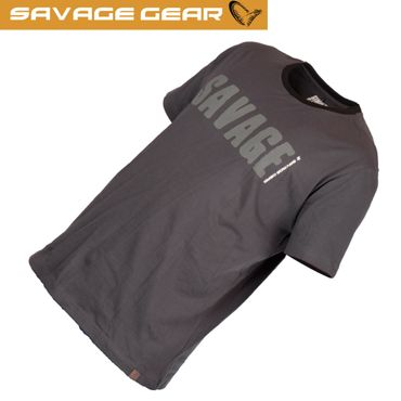 Savage Gear Simply Savage Tee Grey - Angel T-Shirt