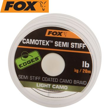 Fox Camotex light Semi Stiff 20m 35lbs 15,8kg - Vorfachmaterial