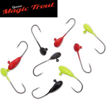 Quantum Magic Trout Mormyschka Set schwarz, rot & gelb - Jighaken