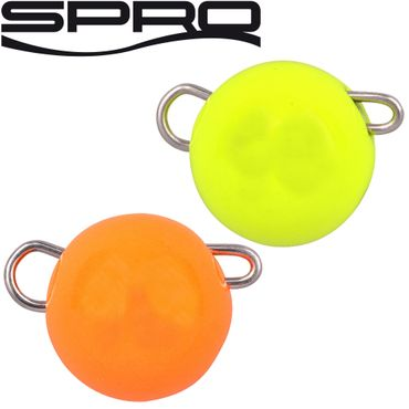 Spro Freestyle Tungsten Bottom Jig Glow orange/chartreuse - 2 Jigköpfe