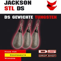 4 Jackson Drop Shot Bleie Tear Drop Tungsten 7g