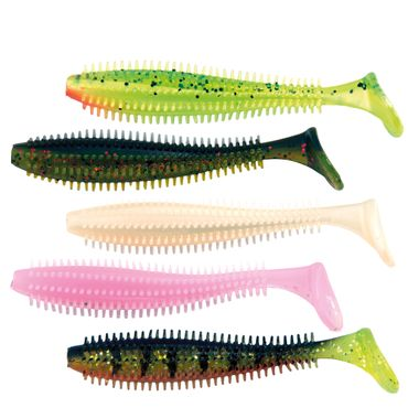 Fox Rage Spikey Shad UV mixed colours - 5 Gummifische
