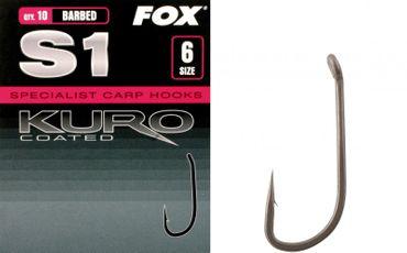 Fox Karpfenhaken S1 Kuro Hook (Gr. 2 - 10)