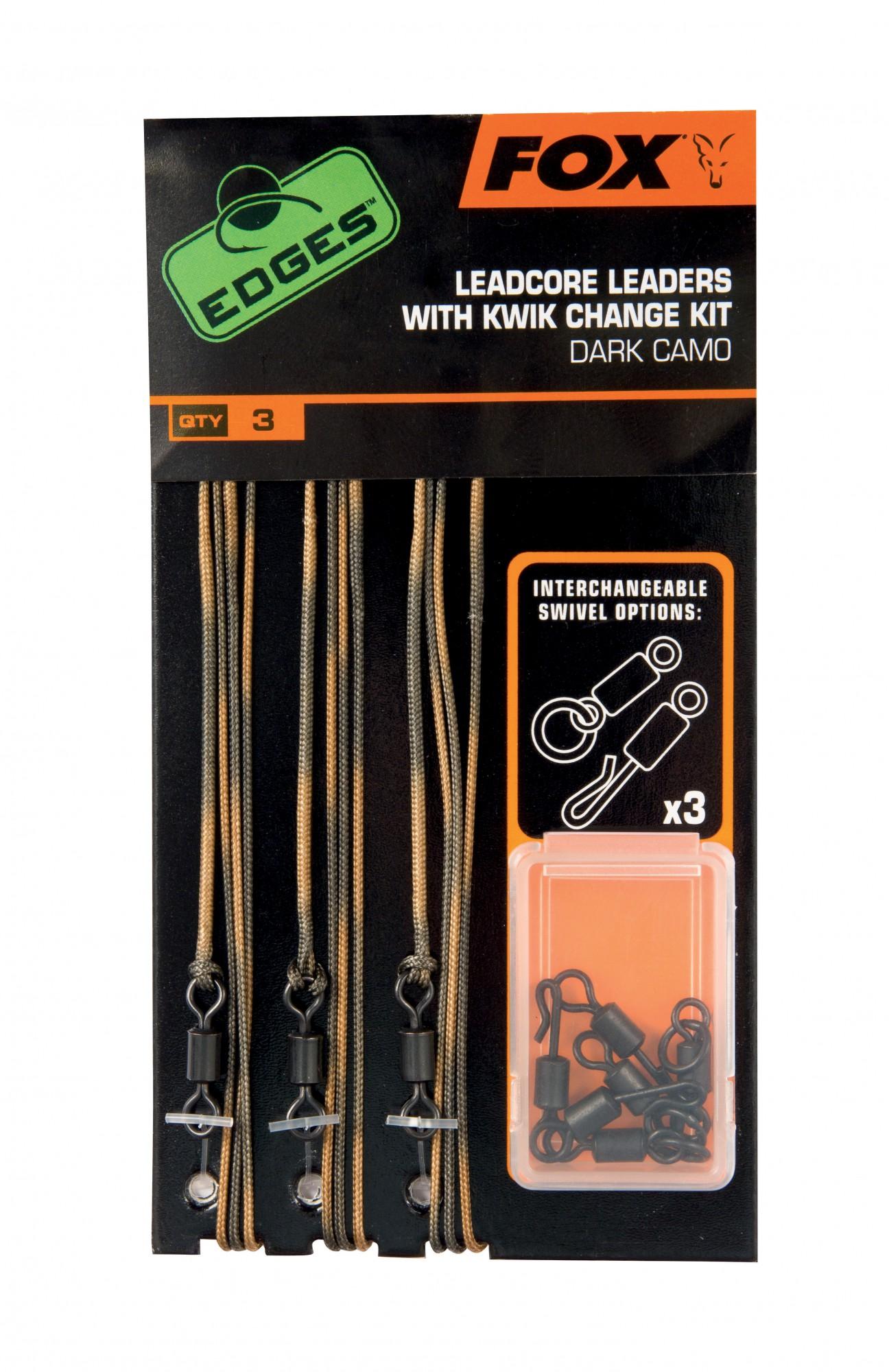 NEU Fox Edges Lead Clip Leadcore Leaders 2 Farben Dark oder Light Camo
