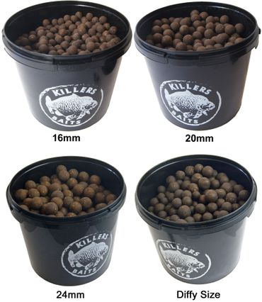 Carp Killers Black Fish & Garlic Boilies 3,5kg Eimer