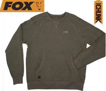 Fox Chunk Crew Pouch Sweatshirt Green Marl Pullover