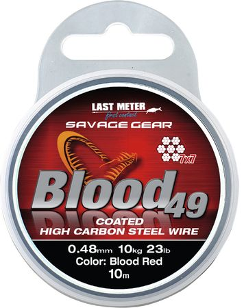 Savage Gear Blood 49 Stahlvorfach 7x7 10m