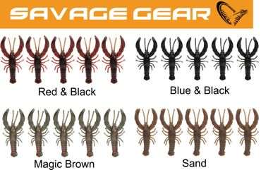 Savage Gear 3D LB Reaction Crayfish 7,5cm 4,5g - 5 Gummi- Krebse