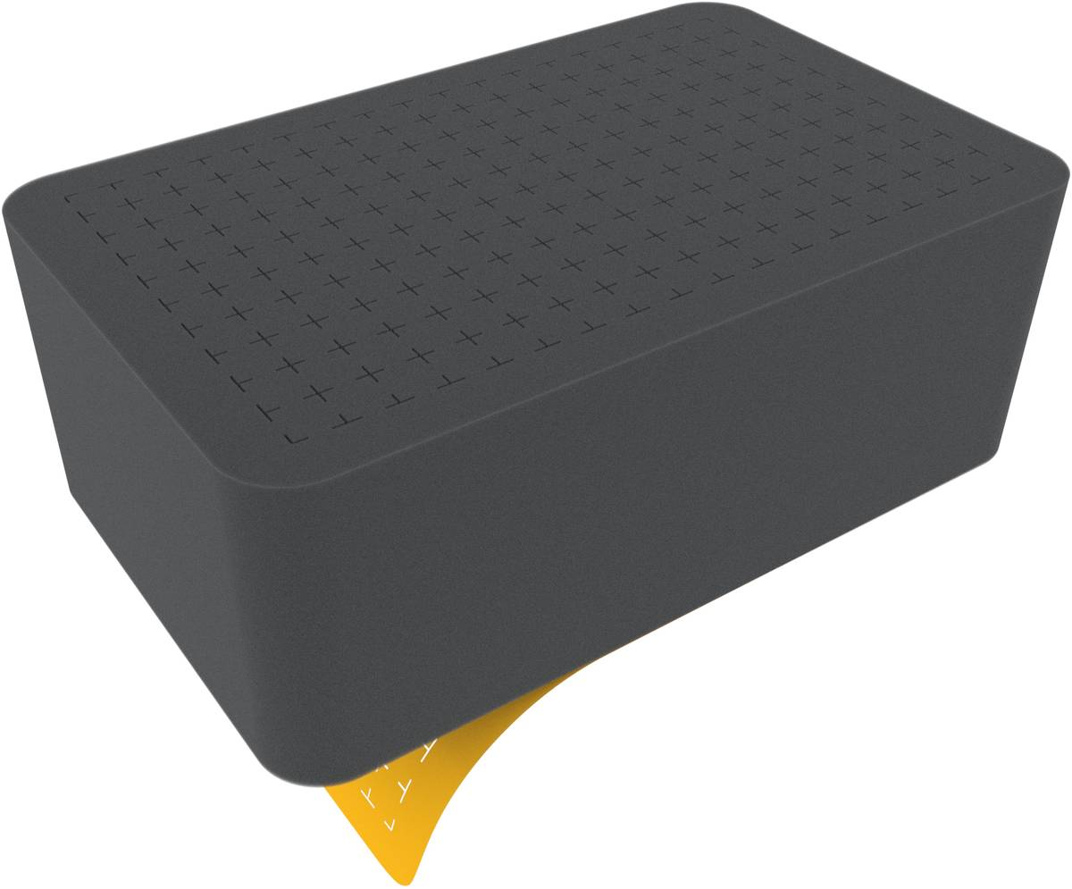 HS100RS half-size Raster-Schaumstoff 100 mm selbstklebend