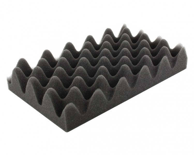 HSNP050 275 mm x 172 mm x 50 mm (2 inches) Convoluted foam half-size