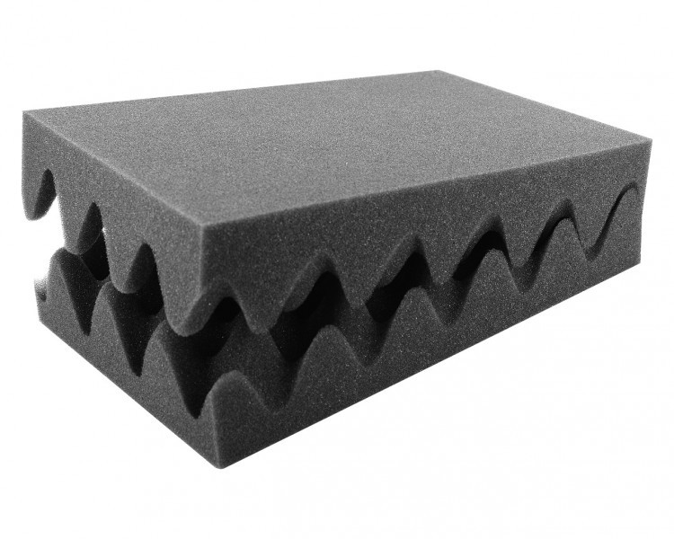 HSNP050Set 2pcs. 275 mm x 172 mm x 50 mm (2 inches) Convoluted foam half-size
