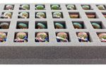 FS035BO 35 mm foam tray with 36 compartments