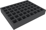 FS050I048BO 50 mm (2 inches) full-size Figure Foam Tray with 48 quadratic slots