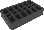 HS050BF01BO 50 mm foam tray - 18 compartments