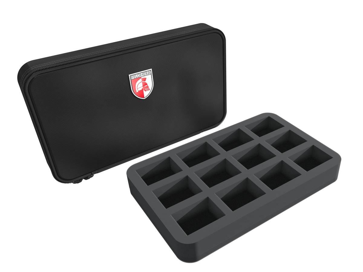 Feldherr MINI MINUS half-size 12 large cut outs foam Case