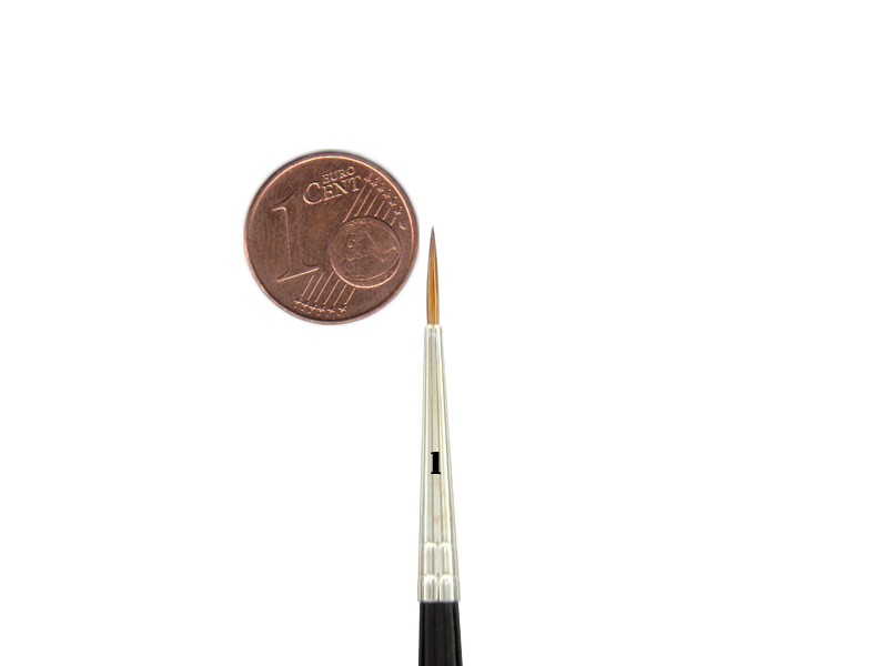 Kolinsky Red Sable Brush Size 1 | Ø 1,9 mm | visible hair length 10 mm