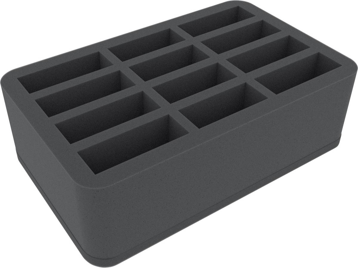 HS085I003BO 85 mm (3.35 inches) long and tall slots - foam tray with base - half-size