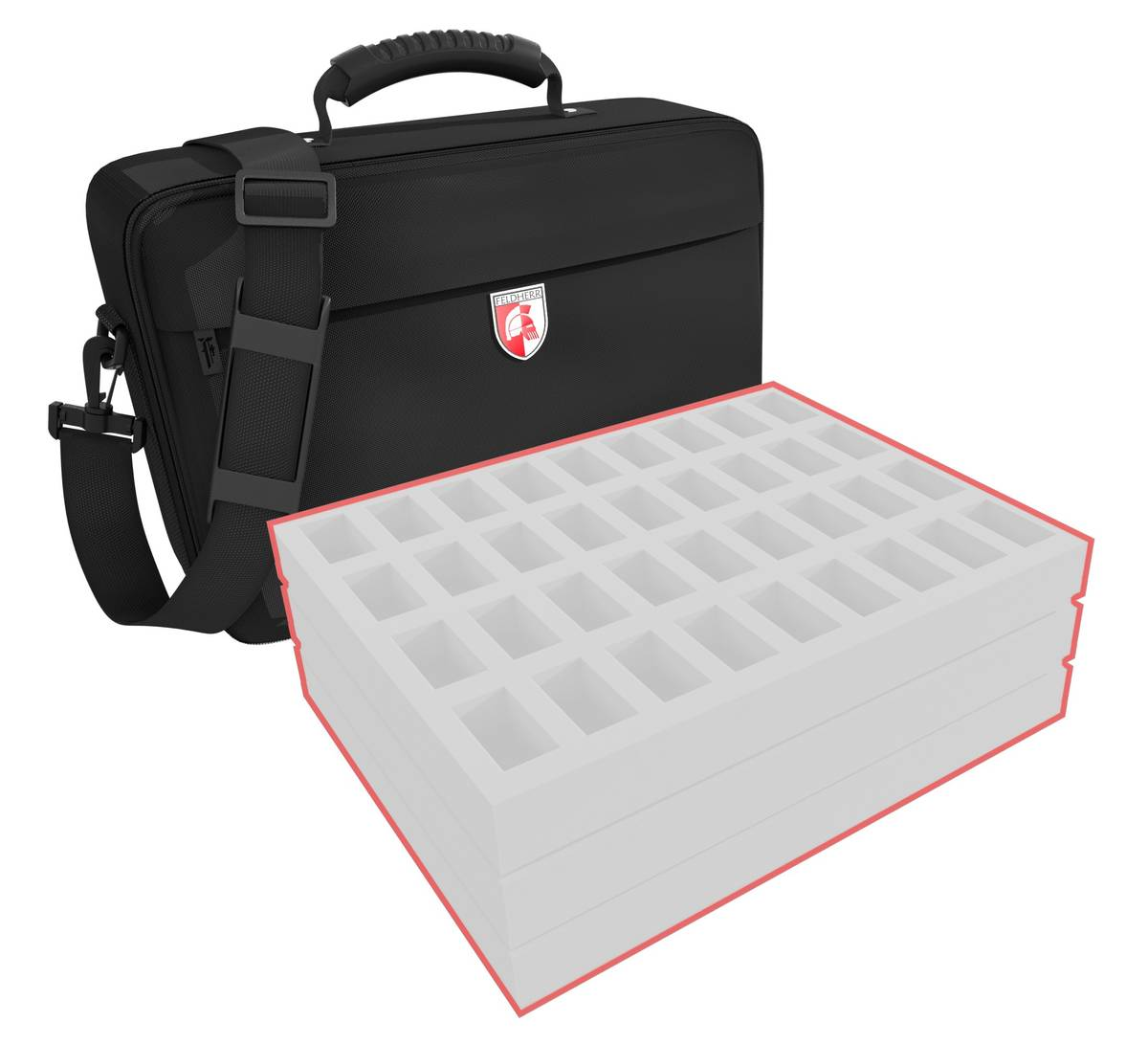 Feldherr MEDIUM custom bag - 120 mm Full-Size foam trays of your choice