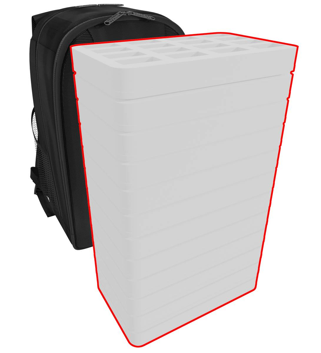 Feldherr BACKPACK custom - 420 mm Half-Size foam trays of your choice