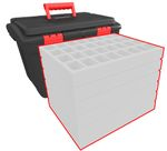 Feldherr Hard Case XL custom - 280 mm Full-Size foam trays of your choice