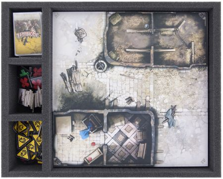 FS050ZC27 50 mm Foam Tray for Zombicide and Black Plague Token, Tiles and Cards