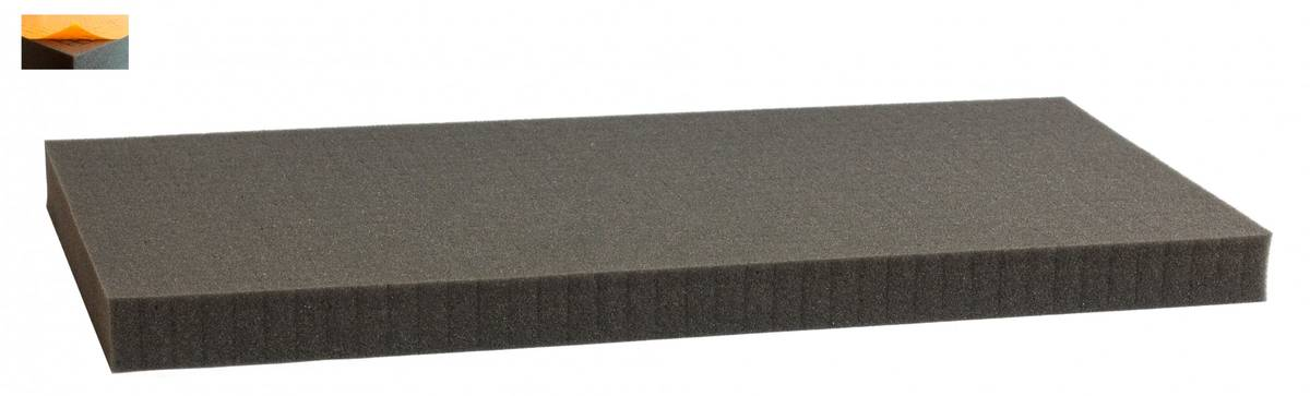 500 mm x 250 mm x 30 mm - Raster 12,5 mm - Pick and Pluck / Pre-Cubed foam tray self-adhesive