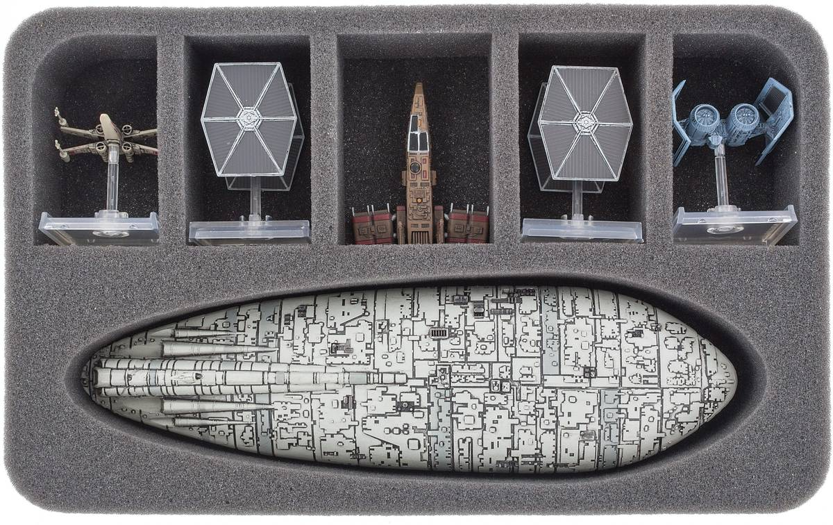 HSBC050BO foam tray for Star Wars X-WING Rebel Transport and Star Ships