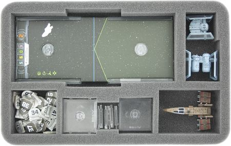 HSBD035BO foam tray for Star Wars X-WING Rebel Transport and Imperial Assault Carrier accessories
