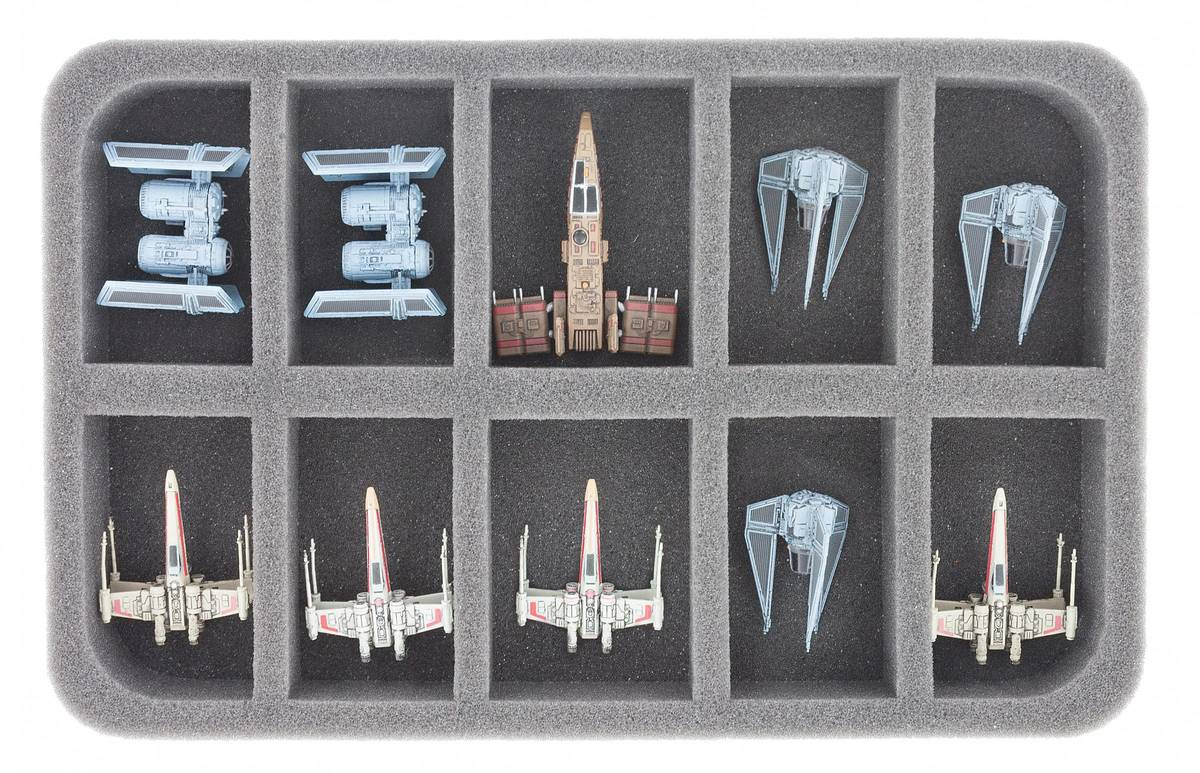 HSBE035BO foam tray for 10 Star Wars X-WING Star Ships