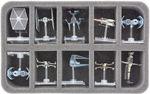 HSBE050BO Schaumstoffeinlage für 10 Star Wars X-WING Raumschiffe mit Base
