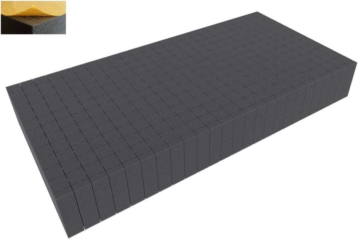 500 mm x 250 mm x 70 mm Rasterschaumstoff Würfelschaum selbstklebend - Rasterweite 20 mm