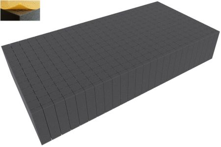 500 mm x 250 mm x 90 mm - Raster 20 mm - Pick and Pluck / Pre-Cubed foam tray self-adhesive