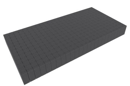 500 mm x 250 mm x 50 mm - Raster 20 mm - Pick and Pluck / Pre-Cubed foam tray