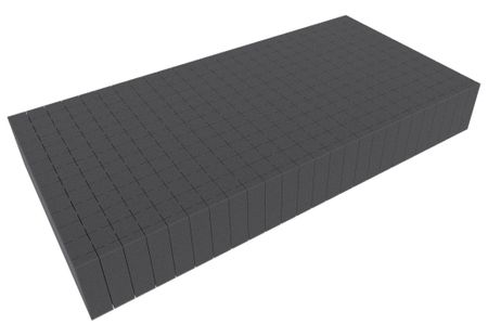 500 mm x 250 mm x 70 mm - Raster 20 mm - Pick and Pluck / Pre-Cubed foam tray