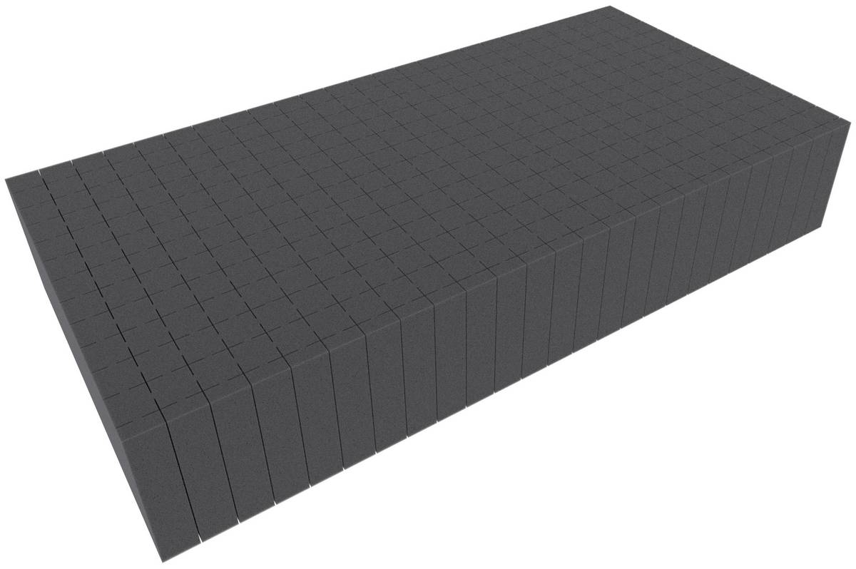 500 mm x 250 mm x 90 mm - Raster 20 mm - Pick and Pluck / Pre-Cubed foam tray