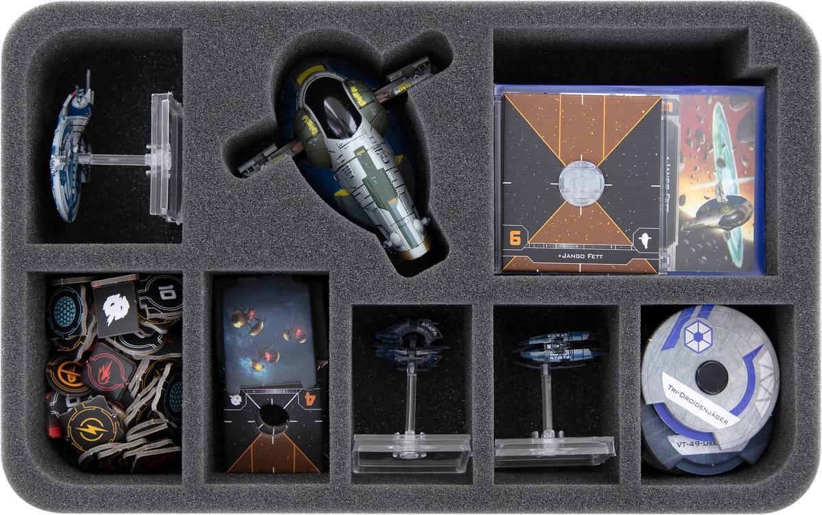 HSBQ050BO Feldherr foam tray for Star Wars X-Wing: Slave I