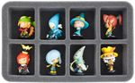 HS050KR01 50 mm (2 inch) half-size Figure Foam Tray for 8 large Krosmaster figures