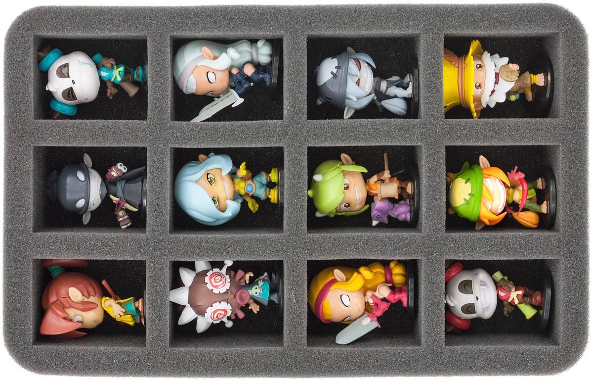 HS050KR02 50 mm Half-Size Schaumstoff für 12 Krosmaster Figuren