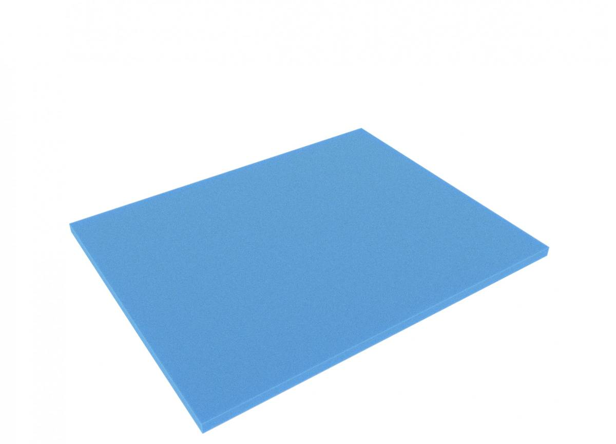 FS010Bblue 345 mm x 275 mm x 10 mm colored foam for Shadowboard blue