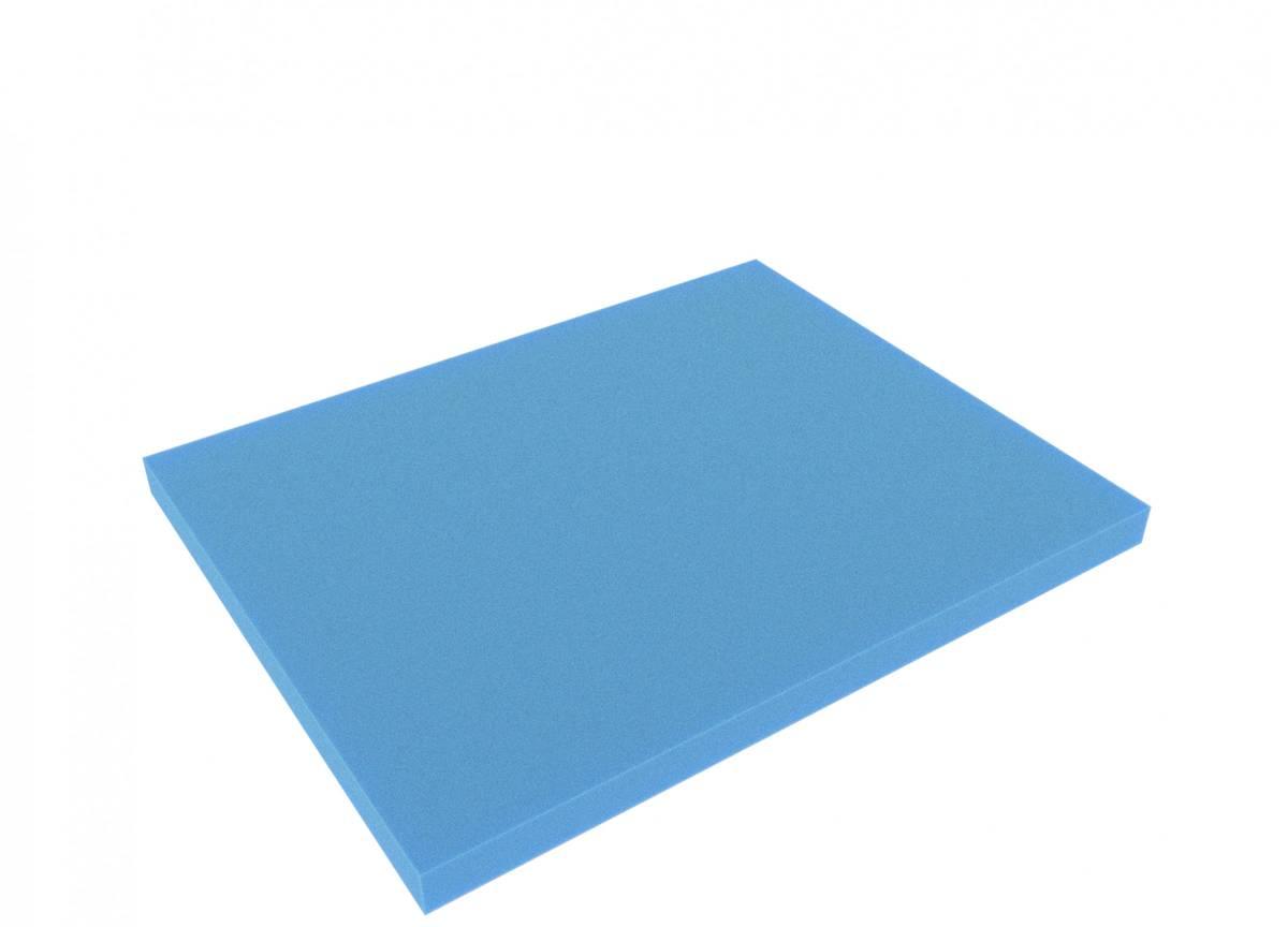 FS020Bblue 345 mm x 275 mm x 20 mm Boden / Schaumstoffzuschnitt für Shadowboard blau
