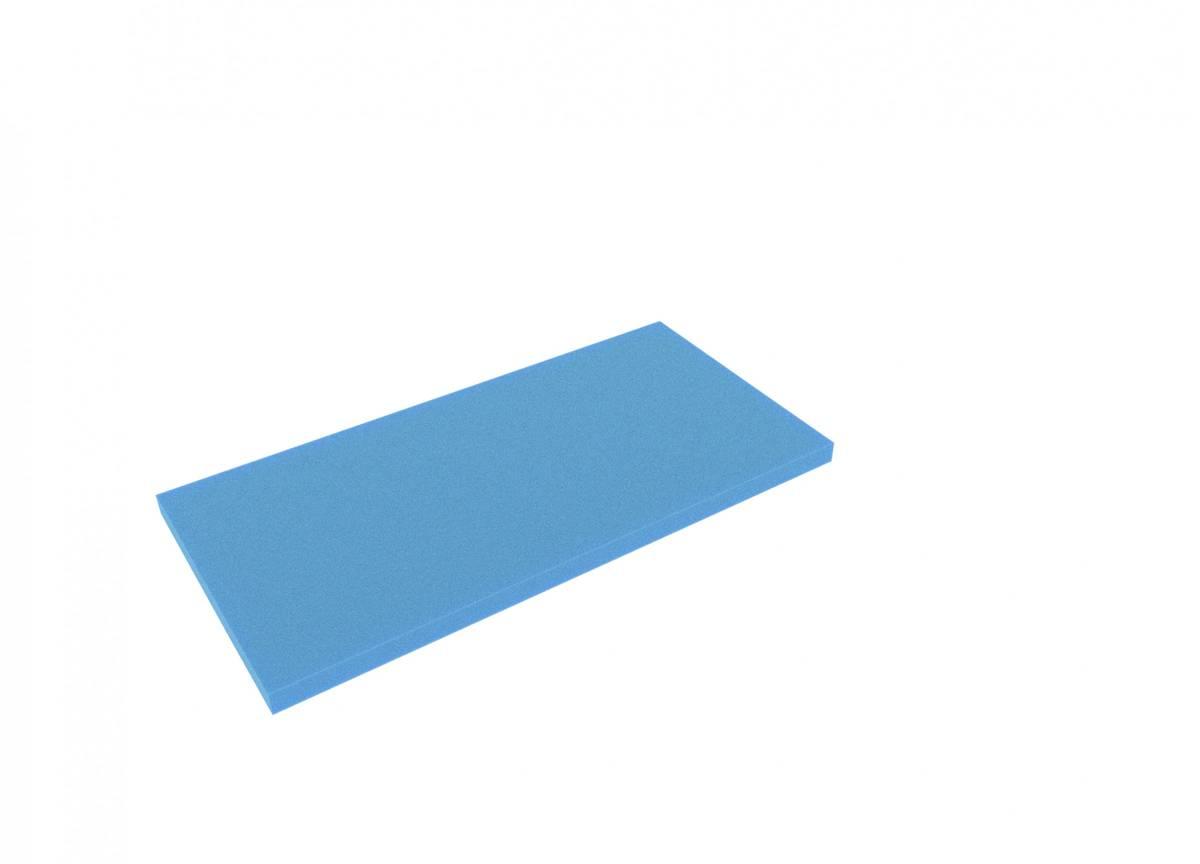 AABA020blue 500 mm x 250 mm x 20 mm Boden / Schaumstoffzuschnitt für Shadowboard blau