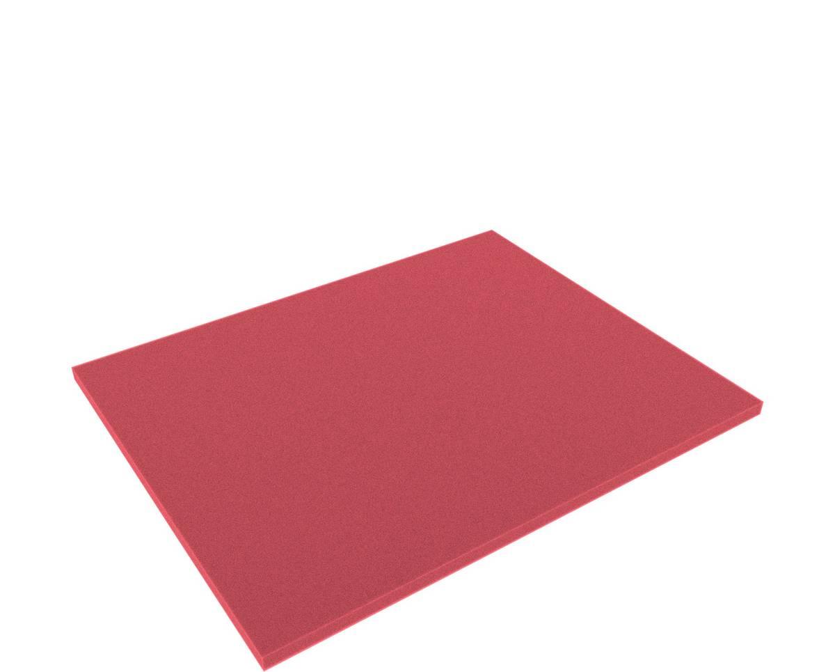 FS010Bred 345 mm x 275 mm x 10 mm Boden / Schaumstoffzuschnitt für Shadowboard rot