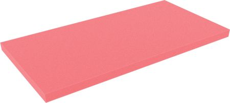 AABA020red 500 mm x 250 mm x 20 mm colored foam for Shadowboard red