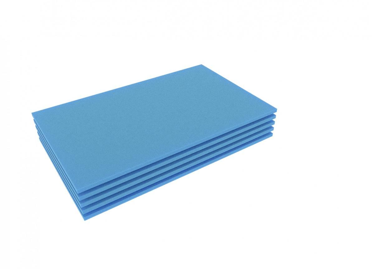 FS010Bblue5 5pcs. 345 mm x 275 mm x 10 mm colored foam for Shadowboard blue