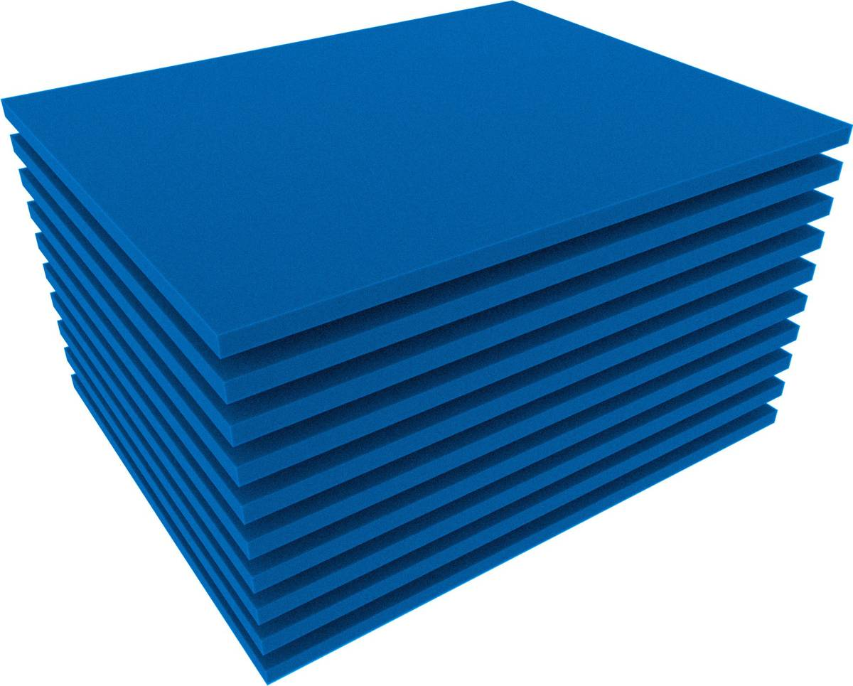 FS010Bblue10 10pcs. 345 mm x 275 mm x 10 mm colored foam for Shadowboard blue